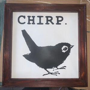 Chirp Reverse canvas photo